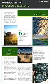French Brochure Template Elegant Travel Fold Margines Info