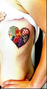135 best Tattoos images on Pinterest | Tattoos for men, Arm ... & I love this patched heart tattoo! It's a great way to integrate friends and  family that make up your heart. (The Design on Each Patch Has Some Sort Of  ... Adamdwight.com