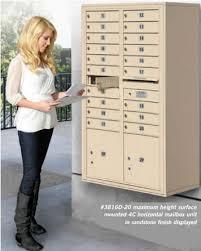 horizontal mailbox enclosures surface