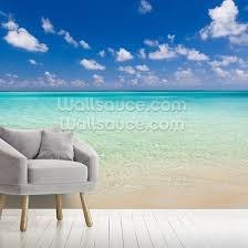 ocean beach on maldives wallsauce es