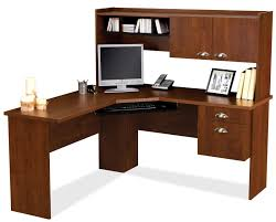 wooden l shaped office desk. Brown Wooden L Shaped Desk With Drawers Also Storage And Shelves Placed On  The White Floor Wooden L Shaped Office Desk