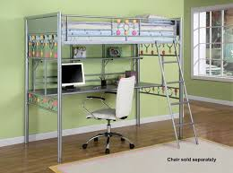 Bedroom Design Mesmerizing Metalic Loft Bed With Computer Desk Awesome Computer Bedroom Decor Design