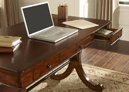 Home Office Writing Desk With Poplar Solids \u0026 Cherry/Birch Veneers In  Rustic Cherry Finish Silver Coast Company