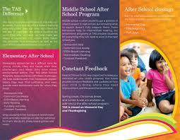 school brochure design ideas learning center afters school brochure designing idea