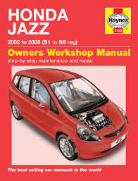 honda jazz 2002 2008 51 08 haynes work repair manual great for any professional or diy mechanic or enthusiast packed with pictures and