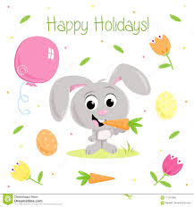 Funny Easter Bunny Easter Party Elements For Greeting
