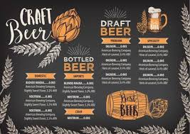 Restarunt Brochure Stunning Beer Restaurant Brochure Vector Royalty Free Cliparts Vectors And