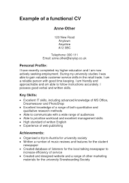 Functional Resume Builder New Cv Examples For Study Of Gallery