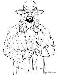 Coloring Book Wrestling Pages Printable The Undertaker Page Source