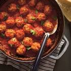 bbq d lamb meatballs with plums in tomato sauce