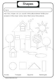 Worksheets Kindergarten Shapes For Worksheet Printable Geometry ...