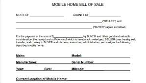 How Do You Make A Bill Of Sale Free 5 Mobile Home Bill Of Sale In Sample Example Format