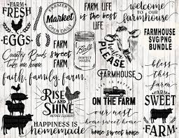 Farm Quotes Cool Farm Svg Bundle Farmhouse Svg Bundle Farm Life Svg Farm Svg Etsy