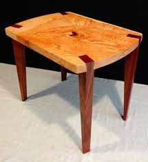 Modern wood furniture. Elm Walnut Side Table. Jon C. Duvall ...