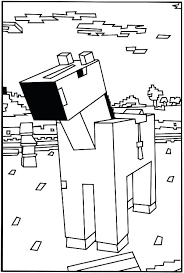 Able Minecraft Steve Coloring Pages Diamond With Sword Birthday