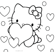 Cat Printable Coloring Pages Hello Kitty Coloring Pages Free