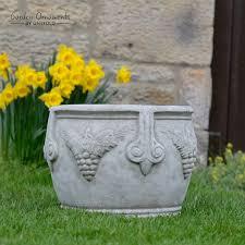 large vine pot planter stone garden