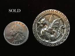 pin dragon griffin pendant sterling silver buckle belt