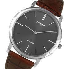 citizen eco drive stilleto thin brown leather mens watch ar1110 11h citizen eco drive stilleto super thin mens watch ar1110 11h