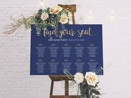 Etsy Wedding Seating Chart Seating Chart Wedding Table Plan Navy Seating Chart Wedding Seating Plan Wedding Table Plan Wedding Decor Gold Seating Chart