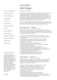 Retail Manager Resume Example Retail Cv Template Sales Environment Sales Assistant Cv Shop Work