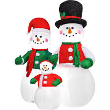 View in gallery. Airblown Inflatable Snowman Family Christmas Decor ...
