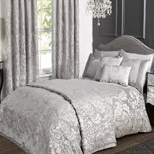 kliving luxury charleston grey super king size bedding duvet cover co uk kitchen home