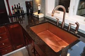 bright copper large undermount sink
