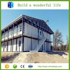 Low cost light steel frame prefab camp construction site accommodation house
