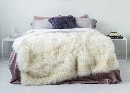 large mongolian curly real sheepskin rug warm with long hair tibetan wool