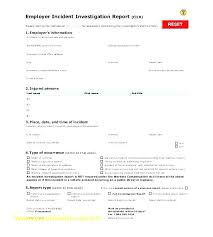 Employee Incident Report Templates Free Word Documents With Sample