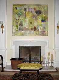 art over fireplace