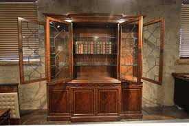 Chippendale China Cabinet Traditional George Iii Mahogany China Cabinet Bookcase Replica