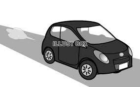 無料イラスト 右向きに走る自動車6