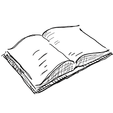 open book drawing png