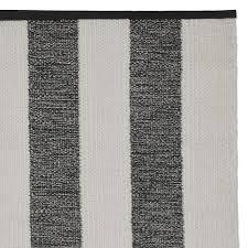 perennials donovan stripe indoor outdoor rug black