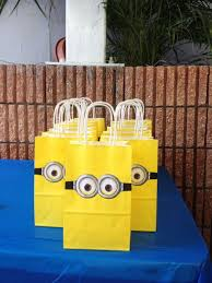 Birthday party ideas  Despicable Me Favor Bags