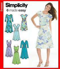 Knit Dress Pattern Simple Simplicity 48 Misses Knit Dresses