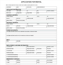Employment Form Template Forms Samples Application Sample Doc
