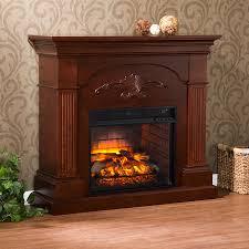 boston loft furnishings 44 75 in w 5000 btu mahogany mdf flat wall infrared quartz