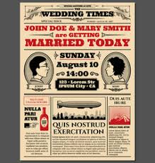 Wedding Invitation Newspaper Template Newspaper Wedding Invitation Wedding