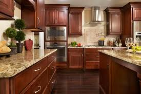 Large Kitchen Cherry Shaker Cabinets Kitchen Remodeling Photos