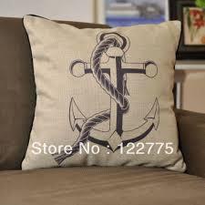 nautical pillow shams. Perfect Pillow 45x45cm Nautical Themed Sea Anchor Linen Throw Pillow Case Cushion Cover  Shamin From Home U0026 Garden On Aliexpresscom  Alibaba Group Intended Shams R