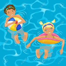 pool splash animated. Two Kids In Water Stock Vector - 19550666 Pool Splash Animated E
