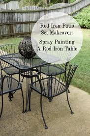 black wrought iron patio furniture. do you have a rod iron table or chair that is in rough shape donu0026 worry it can be fixed when we bought our house noticed patio set black wrought furniture i