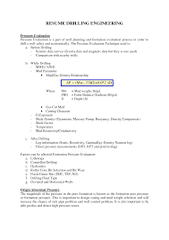 Collection Of Solutions Mwd Field Engineer Sample Resume In Drilling