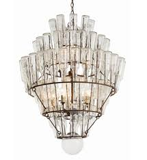 81 Vintage Glass Bottle Chandelier, ...