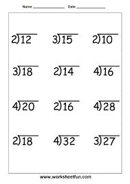 Kindergarten Kids. 4th Grade Worksheets Math: Beginner Division ...