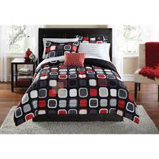 mainstays evans geometric bed in a bag coordinated bedding set