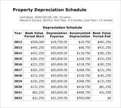 Depreciation Schedule Calculator Depreciation Schedule Template 9 Free Word Excel Pdf